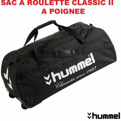 sac de sport a roulette hummel 471clrb14 noir. Black Bedroom Furniture Sets. Home Design Ideas