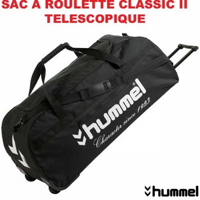 sac de sport a roulette hummel 471clrb14t noir. Black Bedroom Furniture Sets. Home Design Ideas