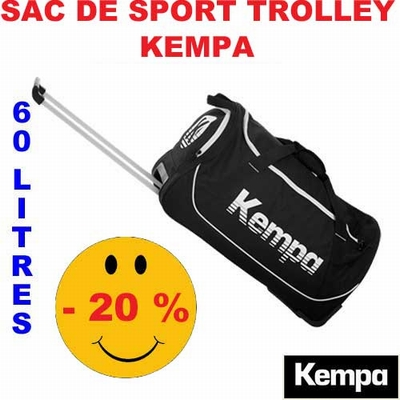 sac de sport trolley kempa 60 200490101 noir. Black Bedroom Furniture Sets. Home Design Ideas
