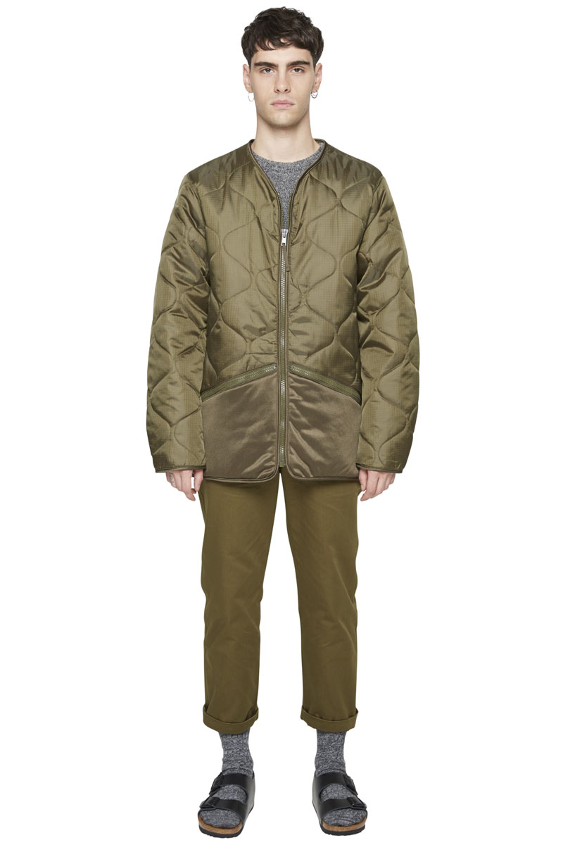 - Quilted military jacket, M65 type - Waterproof ripstop -