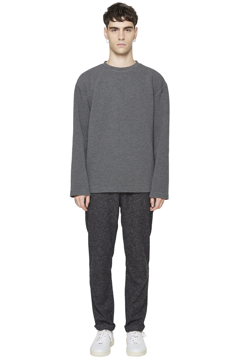 - Coton and polyester sweater - Crew neck - Loose fit -