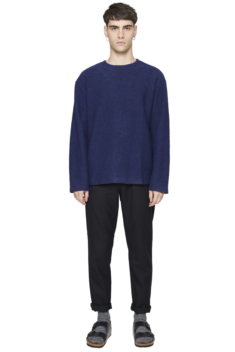- Wool, rayon and polyester sweater - Crew neck - Loose fit