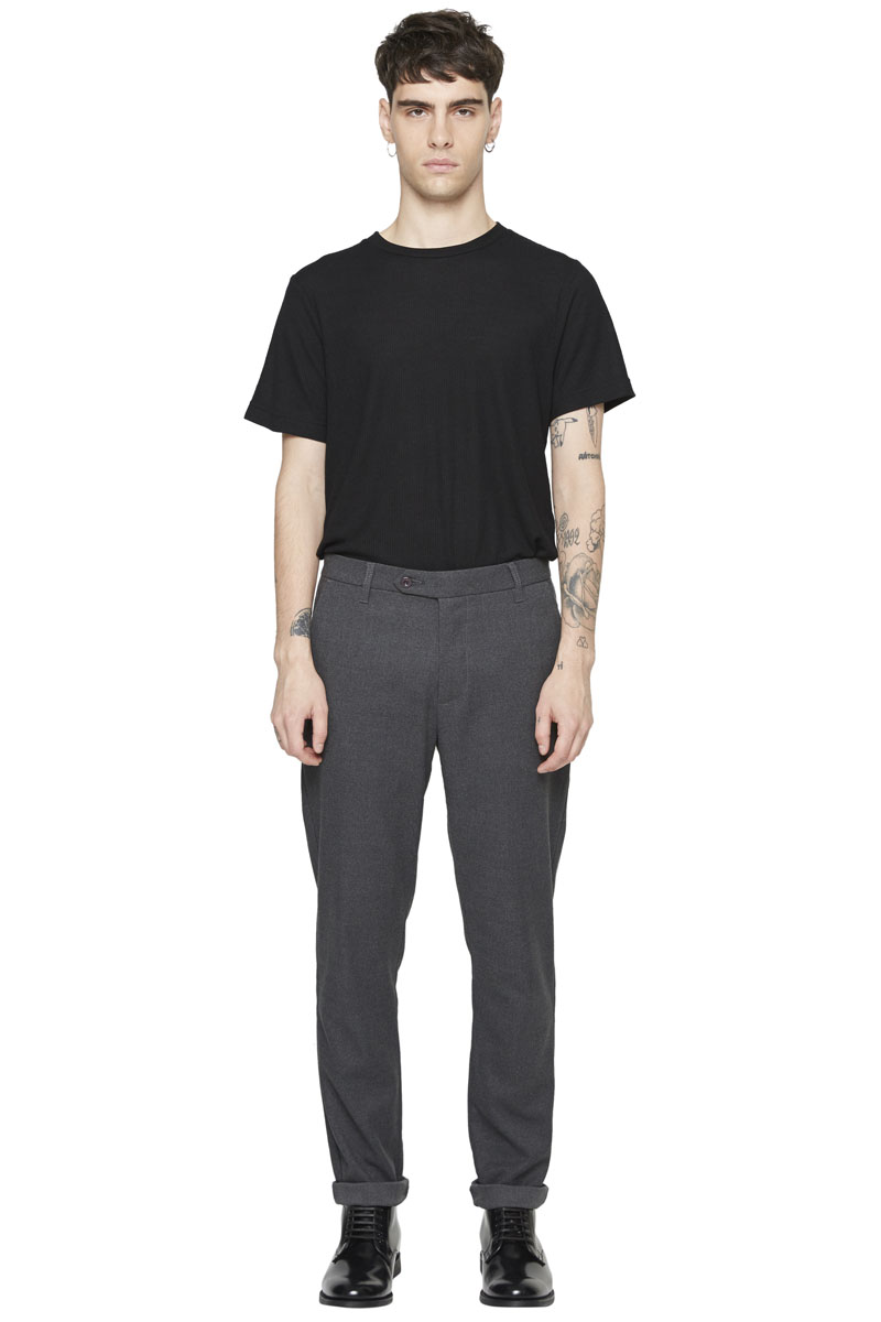 - Polyester and rayon classic pant - Straight fit - 4