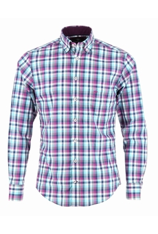 CHEMISE MANCHES LONGUES BERRY TURQUOISE FYNCH HATTON