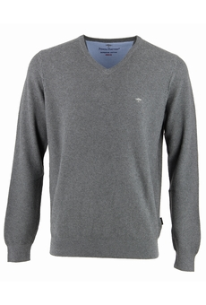 PULL V STRUCTURE PIQUEE NAVY FYNCH HATTON
