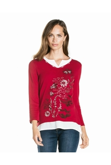 TEE SHIRT TUNIQUE ROUGE ROUGE KALISSON