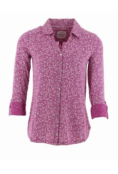 CHEMISHIRT ML PINK PHLOX AND WHITE MISTRAL