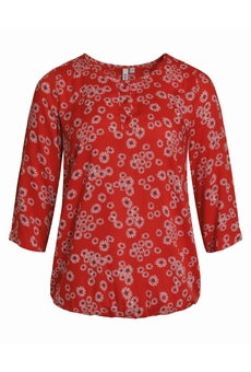 BLOUSE IMPRIMEE CHINESE RED CISO