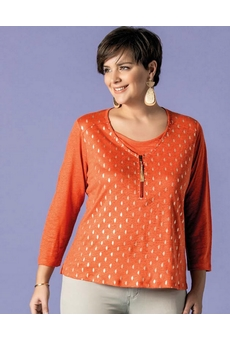 T-SHIRT TOUCHE ARGENT ORANGE BAGORAZ