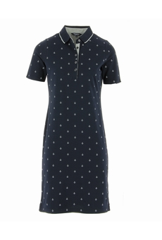 ROBE POLO ANCRES NAVY BLOOMINGS
