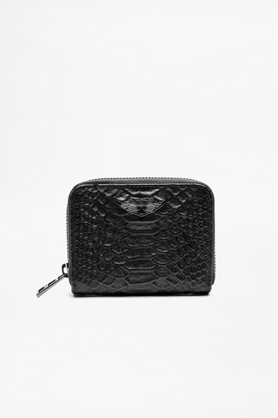 Cobra-style wallet by Zadig&Voltaire, lambskin, credit card