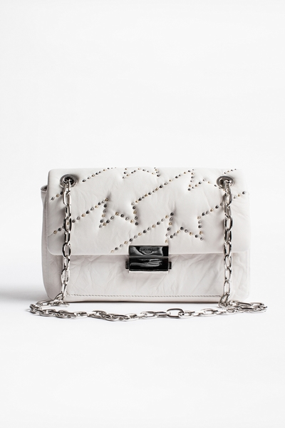 Zadig&Voltaire women's quilted lambskin bag embellished with