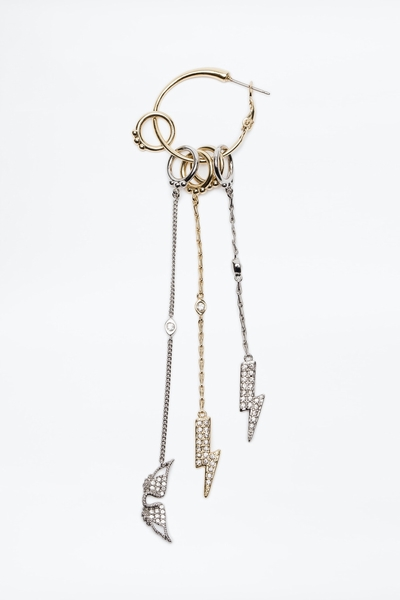 Zadig&Voltaire single earring featuring iconic lightning
