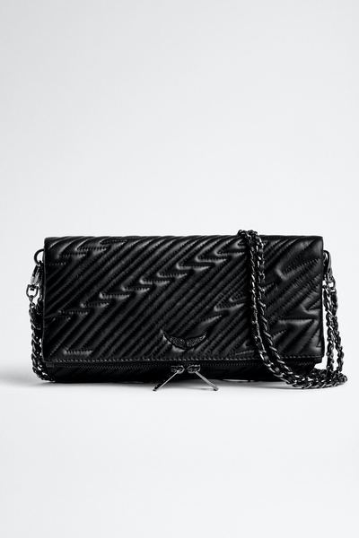 Zadig&Voltaire women's leather clutch with lightning bolt