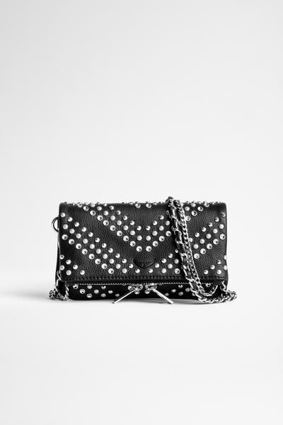 Zadig&Voltaire women's black grained leather mini clutch