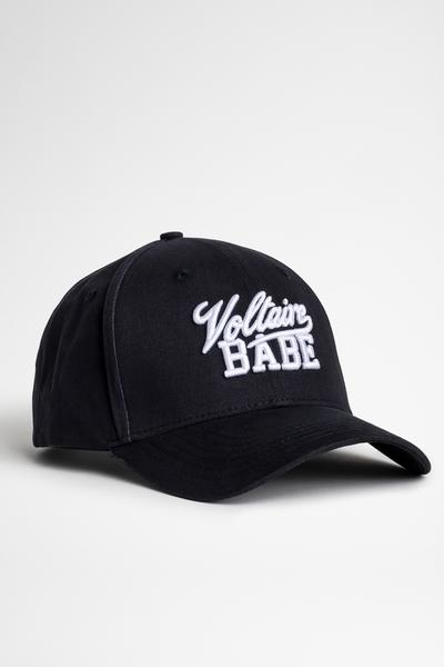 "Zadig&Voltaire women's black baseball cap with ""VOLTAIRE"