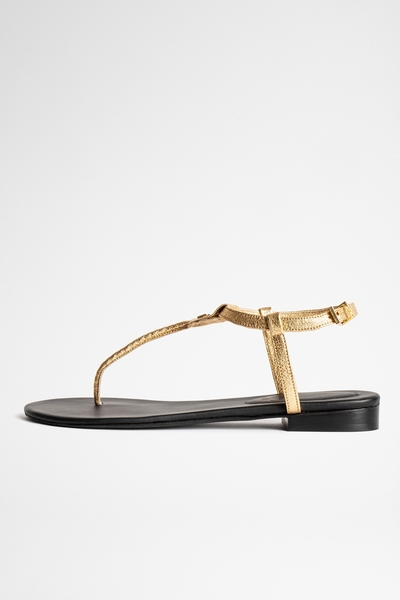 These leather Alessa toe sandals breathe Zadig & Voltaire.
