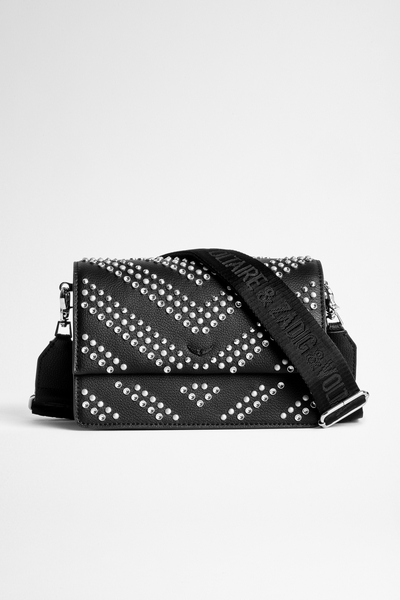 Zadig&Voltaire women's black leather bag with stud