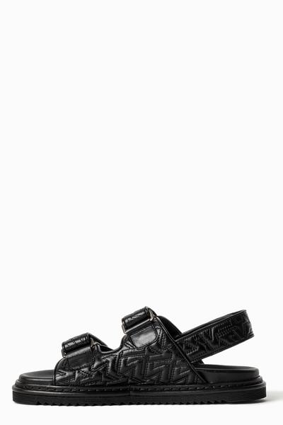 Zadig&Voltaire women's black leather sandals, platform sole,