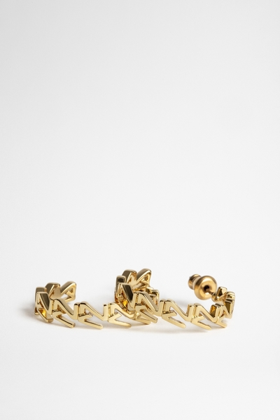 Zadig&Voltaire women's brass earrings embellished with the