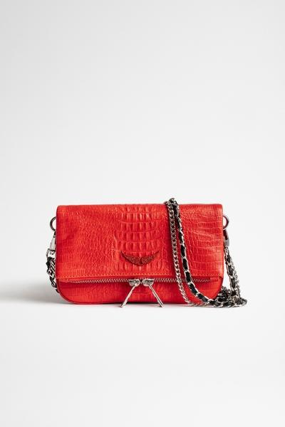 Zadig&Voltaire women's embossed croc-effect leather mini