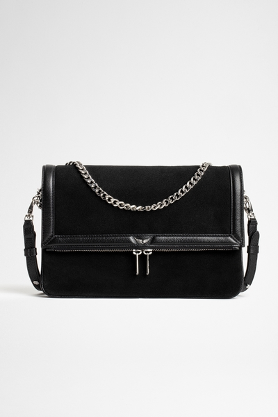 Zadig&Voltaire women's grained leather and suede bag with a