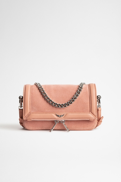 Zadig&Voltaire women's grained leather and suede mini bag