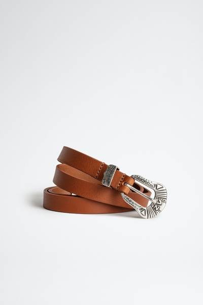 Zadig&Voltaire women's leather belt. Made in France. 100%