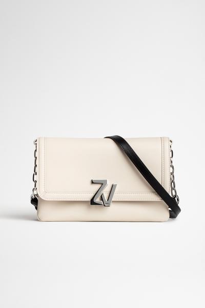 Zadig&Voltaire women's Italian leather clutch, ZV clasp,
