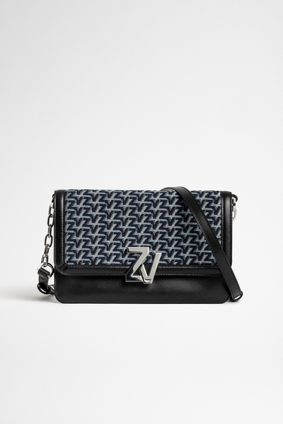 Zadig&Voltaire women's Italian leather and French jacquard