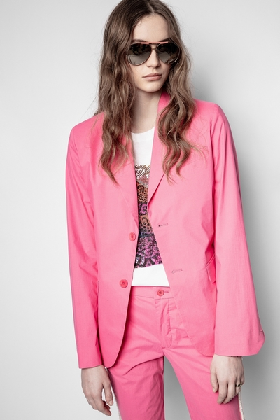 Zadig & Voltaire Pink blazer Crafted from COTON, this item