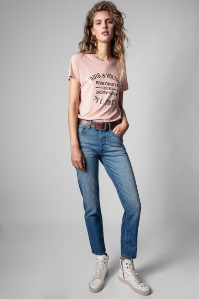 Zadig&Voltaire women's blue jeans. 5 pocket. Straight fit.