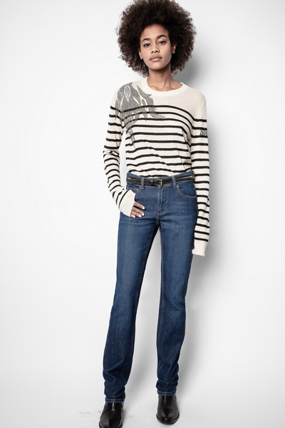 Zadig&Voltaire women's raw jeans. Due to a manufacturing
