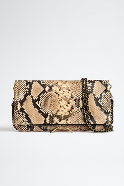 The iconic Rock clutch bag will go seamlessly from daytime