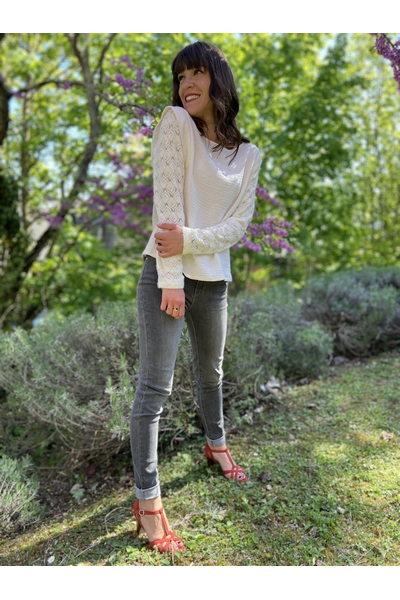 Jeans skinny F.A.M. °Taille mi-haute °5 poches °Longueur
