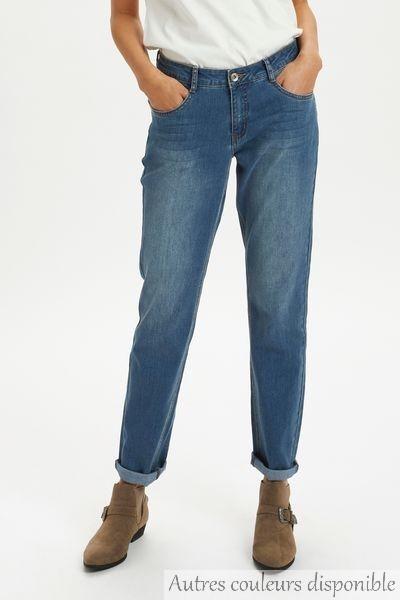 Jean taille normale, coupe droite, existe en 2 couleur gris