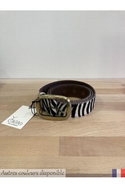 Adoptez cette ceinture en cuir imprimé léopard ou zèbre<P>