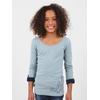 T-shirt manches longues en jersey coton élasthanne. Large