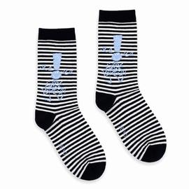 Paire de chaussettes avec la bigoudène tricotée. Bord non