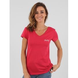 T-shirt manches courtes en coton viscose. Encolure en V