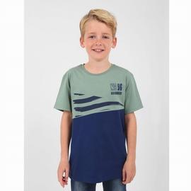 T-shirt manches courtes en jersey coton suédé. Encolure