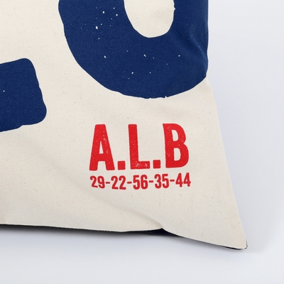 Coussin en toile de coton imprimée. <br>Dimensions: