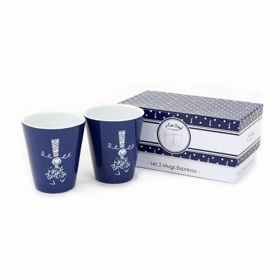 Set comprenant 2 mugs expresso avec packaging inclus.