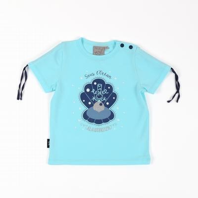 T-shirt manches courtes en jersey coton élasthanne. Encolure