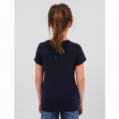 T-shirt manches courtes en coton viscose. Encolure arrondie.