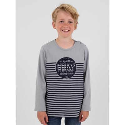 T-shirt manches longues en jersey coton. Encolure arrondie