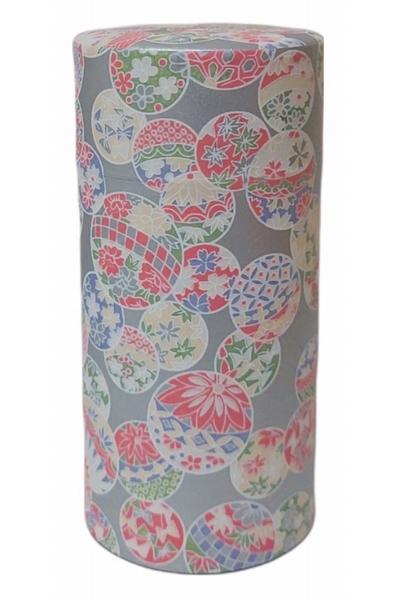 Boîte à thé recouverte de papier traditionnel washi