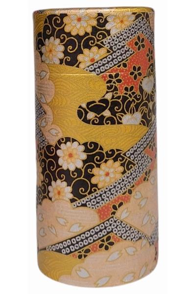 Boîte à thé recouverte de papier washi, papier traditionnel