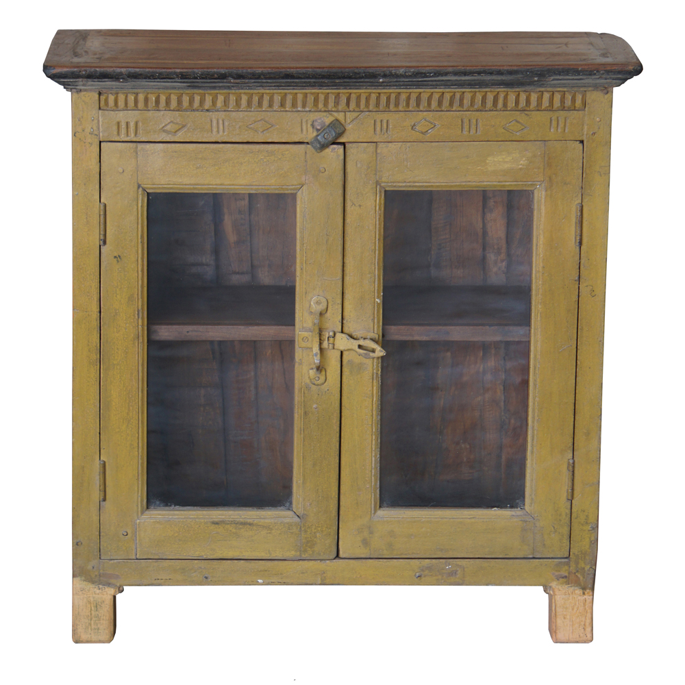 Petit Meuble Vitrine : petit meuble vitrine indien jaune ~ Melissatoandfro.com Idées de Décoration