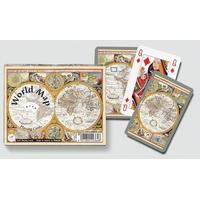 WORLD MAP - 2X55 CARTES
